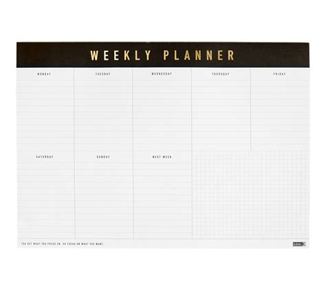 printable weekly planner notepad a4 weekly planner pad life essentials