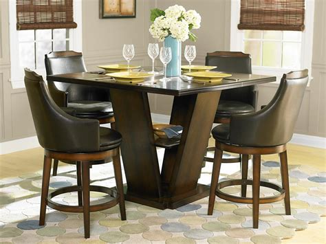 pub height dining table homelegance bayshore 5 pc counter height set table and 4