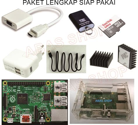 Paket Raspberry Pi 3 Made In Uk Casing Power Supply Dan Micro Sd jual raspberry pi 2 model b mini computer abas shop