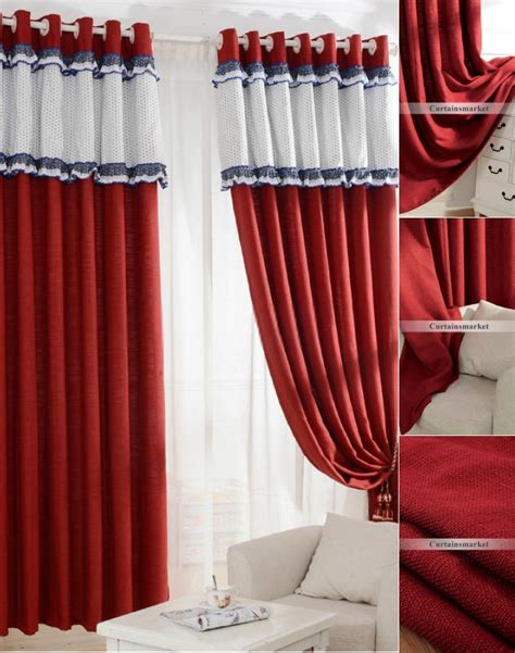 cheap red curtains cheap red curtains of cotton and linen materials