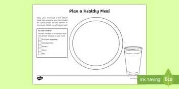 plan a healthy meal worksheet worksheet cfe healthy