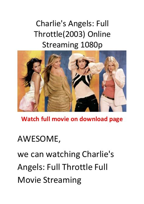 watch charlie s angels online stream full movie directv charlie s angels full throttle 2003 comedy action movies hollywood