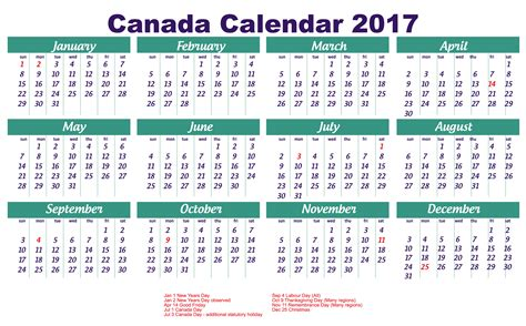 printable calendar canada 2017 calendar canada 2018 calendar with holidays