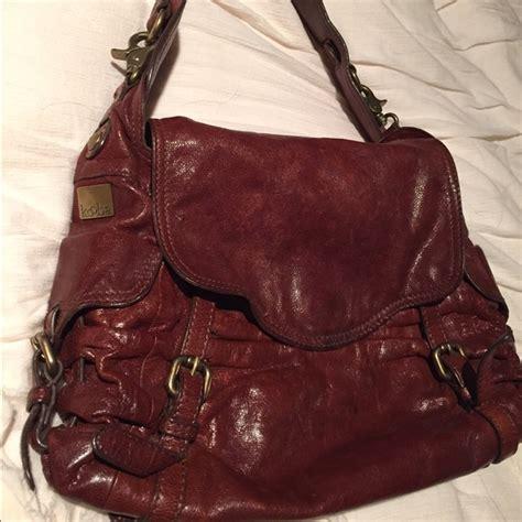 Kooba Jacinda Buckle Front Shoulder Satchel by 81 Kooba Handbags Kooba Distressed Leather Buckle