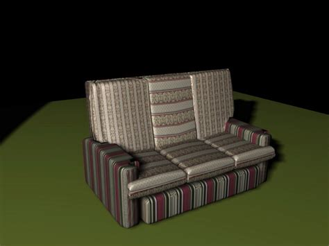 red striped sofa red striped sofa 3d model 3d studio 3ds max files free