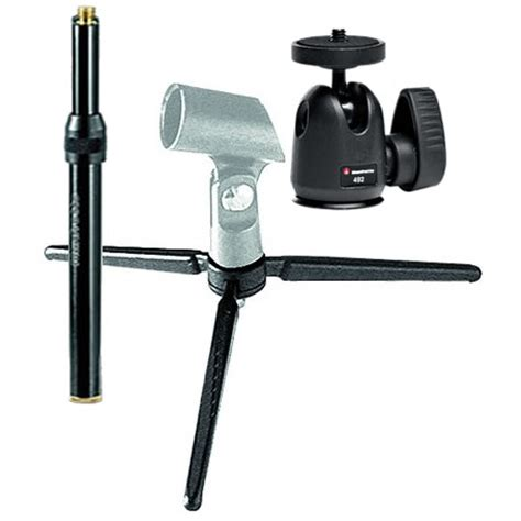 manfrotto table top tripod kit manfrotto 209 492long table top tripod kit with 492 mini