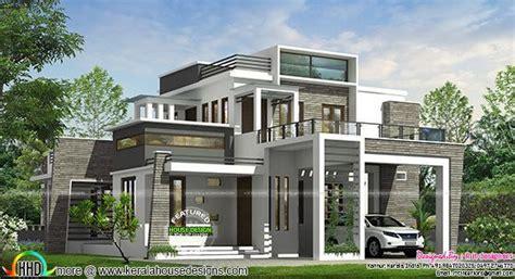 Box Type House Design Archives 4 Bhk Modern Box Type House Kerala Home Design Bloglovin