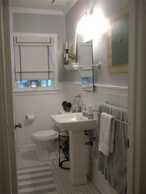 wainscoting small bathroom pin by lisa tucker on gray bathrooms pinterest