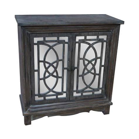 crestview collection rustic buffet cabinet rustic brown two door mirrored lace cut cabinet cabinet