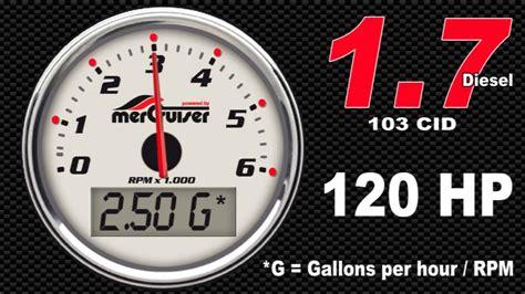 boat fuel economy mercruiser 1 7 l 120 hp diesel fuel
