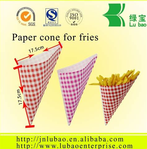 How To Make Paper Cones For Food - fast food paper cones for fries in packaging bags