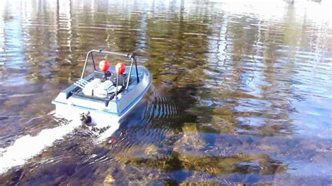 trails end boat r rc trail jet boat ice jump slide youtube