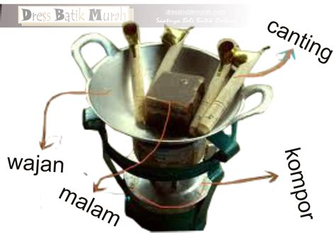 Wajan Gagang canting alat pewarna batik tradisional bima ntb