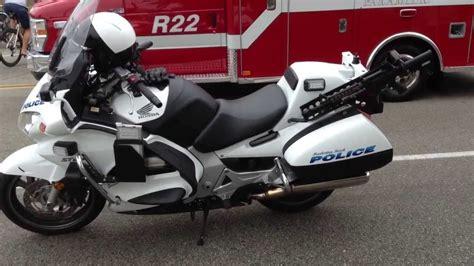 police motorcycle honda st youtube
