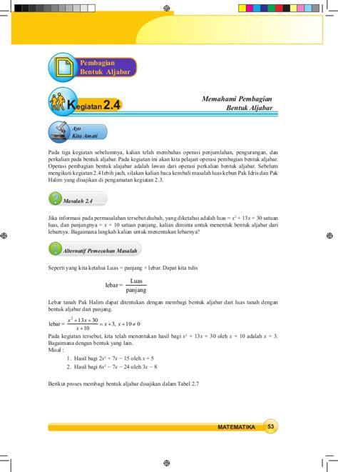 Abcde Pengurangan matematika smp kelas 8 kurikulum 2013 siswa