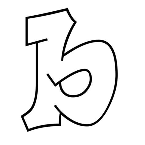 lettere da stare colorate immagini lettera b disegno di lettera b da colorare per