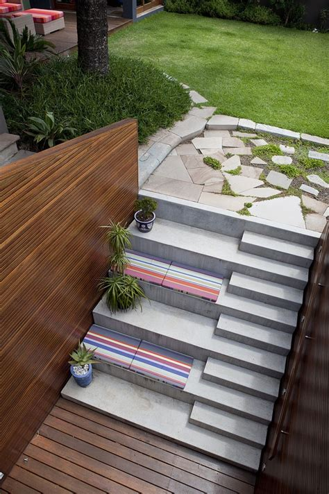 exterior stairs steps and sitting area architectural inspirations
