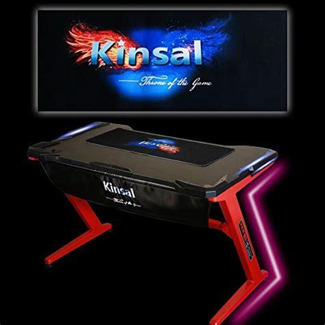gaming desk led lights kinsal gaming desk computer z shaped desk with