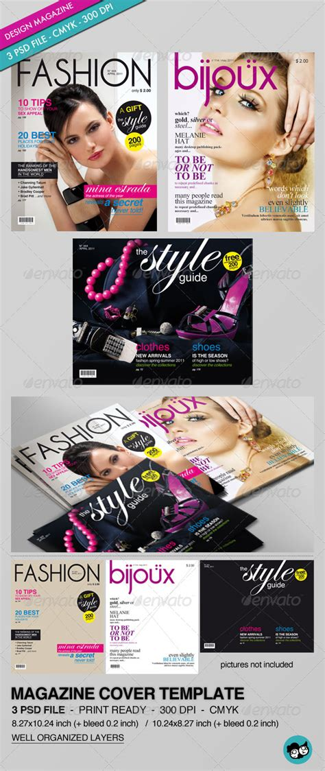print magazine templates magazine cover template graphicriver