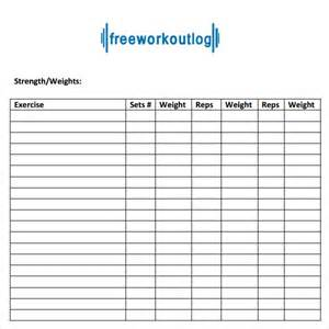 free exercise workout template most popular workout programs