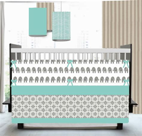 gray and aqua bedding baby bedding fresh aqua and gray custom crib bedding
