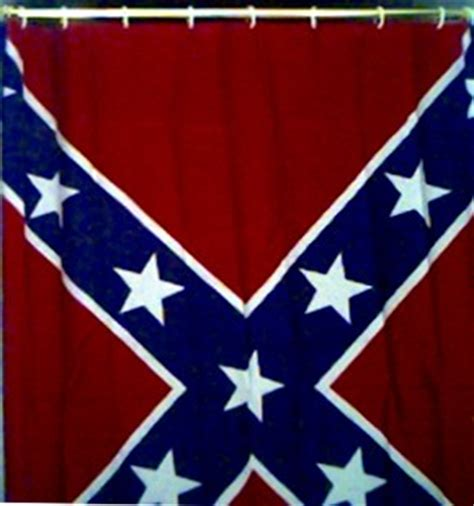 rebel flag shower curtain confederate flag shower curtain cooters
