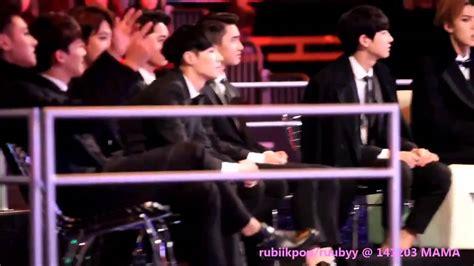 exo reaction to bts fancam 141203 exo sehun baekhyun reaction to bts danger