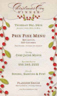 christmas menus flyers on pinterest menu template