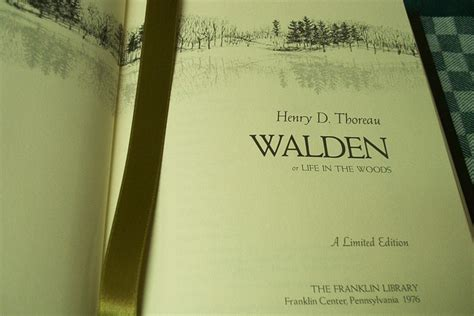 walden pond book henry david thoreau leather bound books