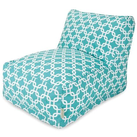 buy majestic home  teal links bean bag chair lounger  contemporary furniture warehouse