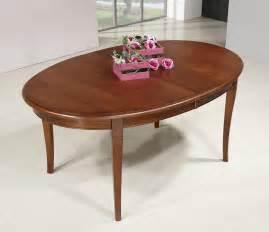 table ovale de salle 224 manger estelle en merisier massif