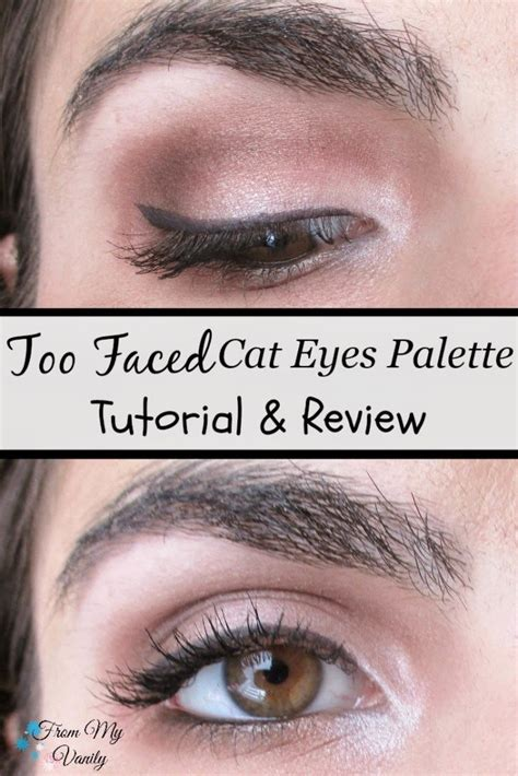 html tutorial review an easy too faced cat eyes palette tutorial mini review