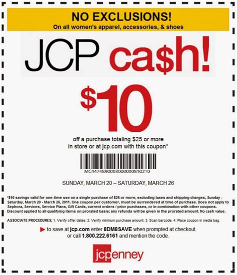 jcpenney outlet coupons printable printable coupons jcpenney coupons