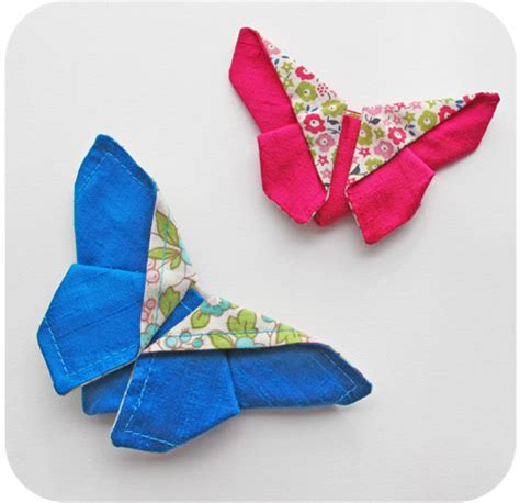 Cloth Origami - fabric origami butterfly sewtorial