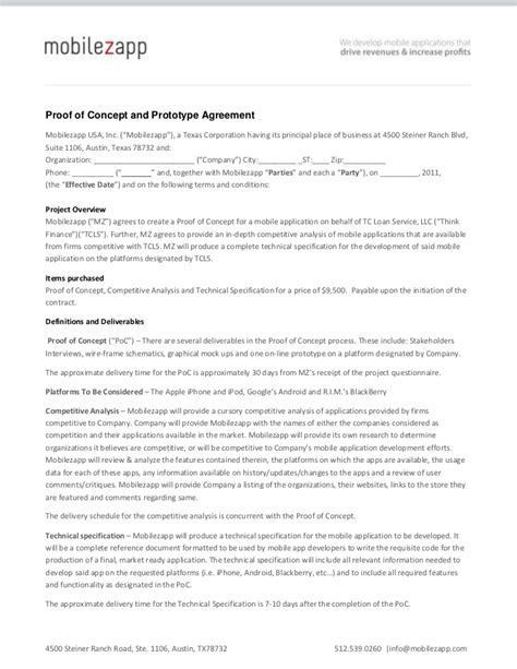 proof of concept agreement template proof of concept template cyberuse