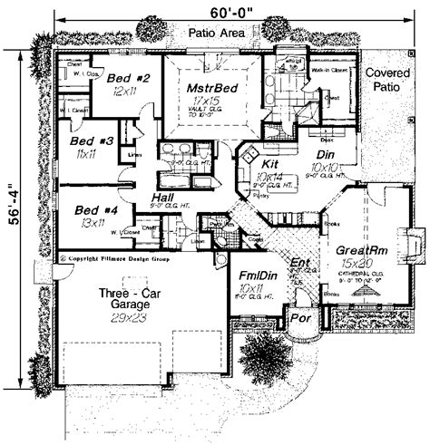silent creek modern ranch home plan 036d 0024 house