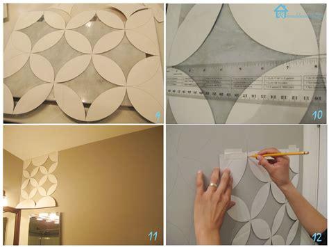 pattern cat dinding let s fun mengecat dengan stensil geometric pattern