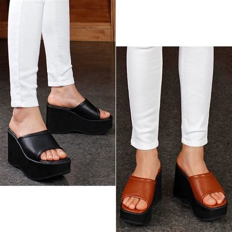 Sandal Wanita Ir 12 Wedges 3cm 10cm wedges platforms heels mules clogs sandals platforms shoes us 4 5 7 5 ebay