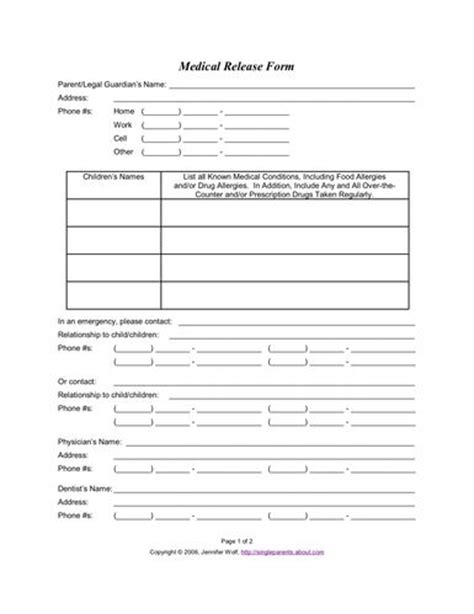 photo release form template for children use this release form to protect your in an