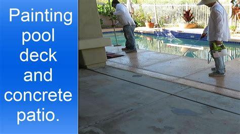 painting pool deck  concrete patio  hc acryla deck