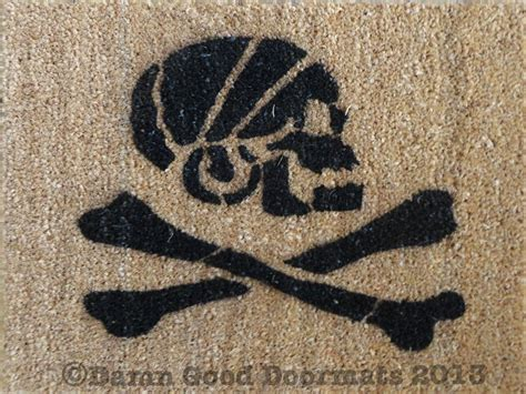 Skull And Crossbones Doormat by Pirate Skull And Crossbones Jolly Rodger Doormat