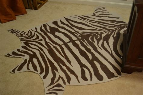 diy zebra rug diy drop cloth zebra rug tutorial
