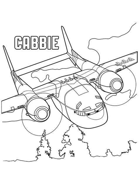 Planes 2 Kleurplaat Cabbie Aeroplane Colouring Page
