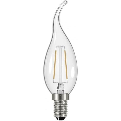 dar lighting filament style 2 4w bent tip candle led bulb with e14 ses type socket lighting