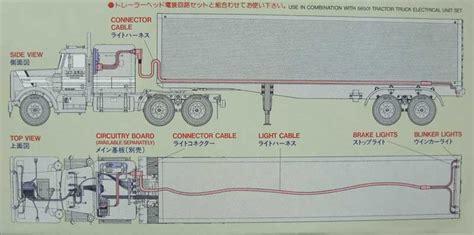 parts of a semi truck diagram tamiya 56502 1 14 rc tractor truck semi trailer light