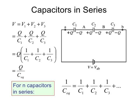capacitance for capacitors in series capacitors