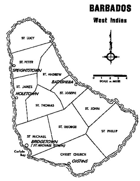 barbados maps including outline and topographical maps chandler family association dna group 23