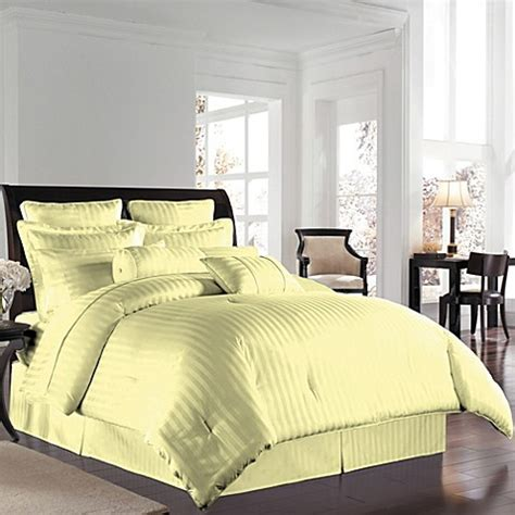 yellow damask comforter wamsutta 174 500 damask comforter set in yellow bed bath