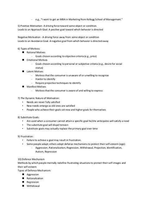 Consumer Behaviour Notes For Mba by Reflective Notes Consumer Behaviour