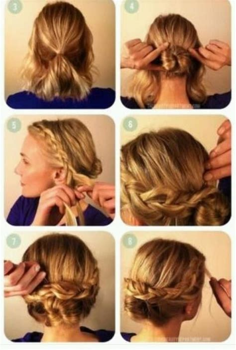 make a bun wth braiding hair dutch braid low bun tutorial short updo styles pinterest